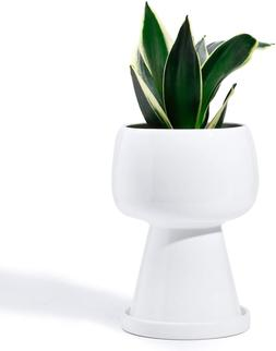 POTEY 054601 Flower Pot Indoor with Drainage Holes & Saucer