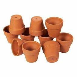 10 Pack Terra Cotta Pots with Drainage Holes - 2.6 inches Mi