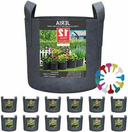 JERIA 12-Pack 3 Gallon, Vegetable/Flower/Plant Grow Bags, Ae