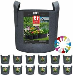 12-Pack 7 Gallon,Vegetable/Flower/Plant Grow Bags,Aeration F