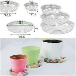 15 Pack Clear Plant Saucers Flower Pot Tray  Indoor outdoor