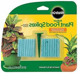 2 PACK Miracle-Gro 300157 Indoor Plant Food 48-Spikes, 2.2Oz