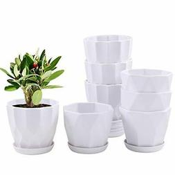 4.5 Inch Plant Flower Pots Indoor Plastic Planters with Drai