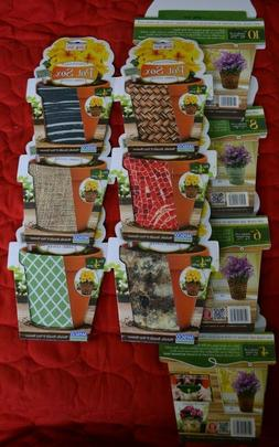 """4 pack Flower Pot Sox Stretchable Fabric Covers - 4"""", 6"""", 8"""""""