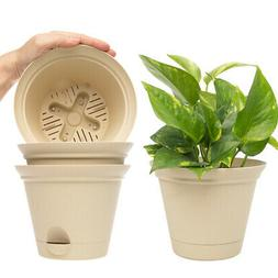 """4pk Misco 6.8"""" Plant Spa Flared Self Watering Planters Ind"""