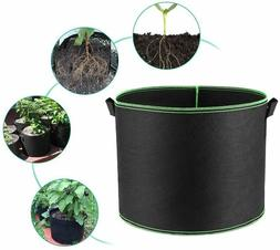 5-Pack Grow Bags/Aeration Fabric Pots w/Handles