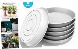 6 Pack Plant Saucer, 4 6 8 10 12 Inch Durable Plant Tray Flo