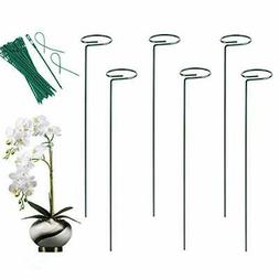 6 Pack Plant Stakes - Plant Support Ring for Potted Flower a