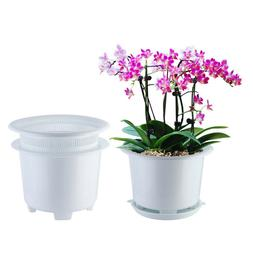 Meshpot 8 inch Plastic Orchid Pot With Holes,Orchid Planter