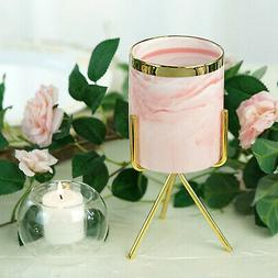 8-Inch tall Gold Iron Stand with Ceramic Flower Pot Wedding