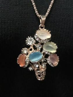 Betsy Johnson Flower Pot Necklace, Exc. Cond. Very Nicely De
