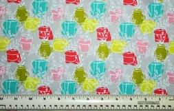 By the 1/2 yard 100% cotton fabric Natures Vases and Planter