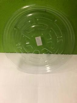 """CLEAR 10"""" inch SAUCER  Reuseable Sturdy Plant Pot Tray Pan"""