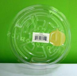 """CLEAR 6"""" inch SAUCER  Vinyl Reuseable Sturdy Plant Pot Tray"""