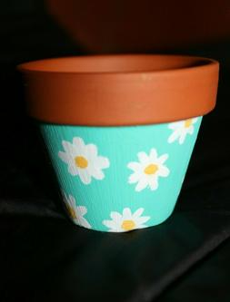 Hand Painted Mini succulent Pot - cactus small planters with