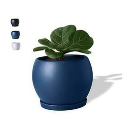 Indoor Ceramic Planter Flower Plant Pot-5 Inch with Drainage