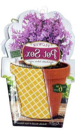 """Kimco Flower Pot Sox Stretchable Fabric Covers fits 6"""""""
