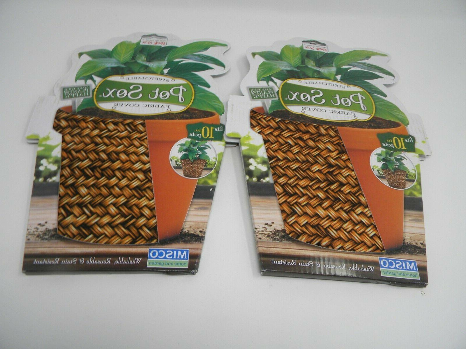 2 stretchable fabric cover fits 10in pots