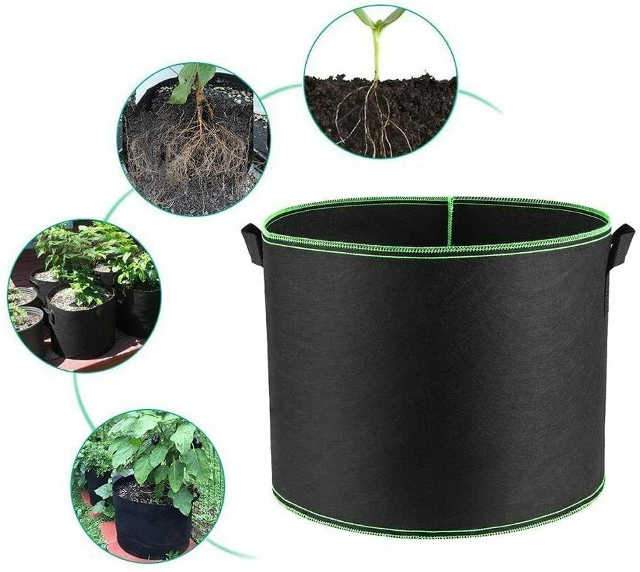 5 pack grow bags aeration fabric pots