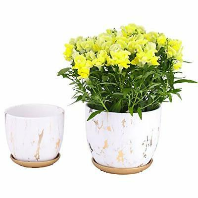 7 and 5 5 inch ceramic planters
