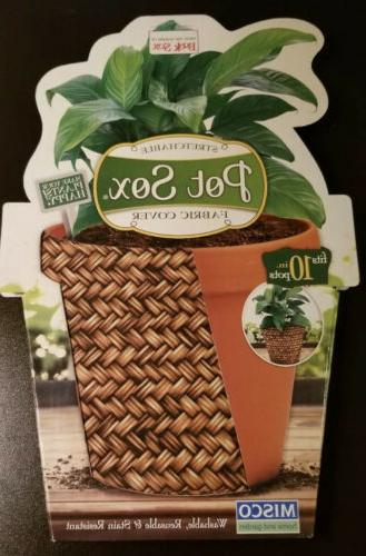 stretchable fabric covers 10 flower pot basketweave