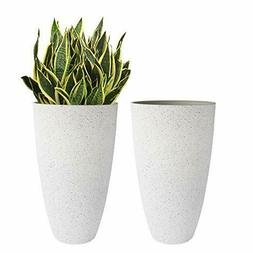 Large Outdoor Tall Planters - 20 inch Indoor Round Big Flowe