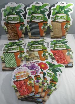 """New Pot Sox Fabric Plant Cover Fits 4 6 8 or 10"""" Flower Pots"""