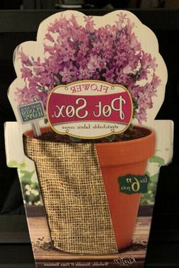 """NEW - Kimco 6"""" Flower Pot Sox Stretchable Fabric Cover"""