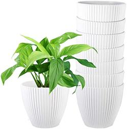 ZOUTOG Plant Pots, 7 Inch White planters for Indoor Plants,