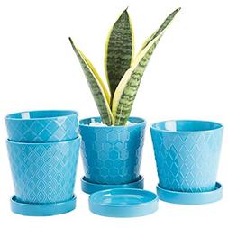 BUYMAX Plant Pots Indoor �5�inch Ceramic Flower Pot with