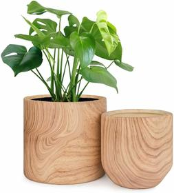 Plant Pots Indoor 6/4.8in Pack 2, Ceramic Planter Pots with