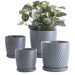 YISHANG Plant Pots Indoor �6 and 5 inch Ceramic Flower Pot
