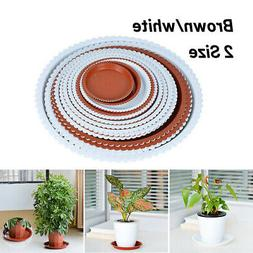 Plant Saucer Clear Plastic Drip Trays Durable Flower Pot For