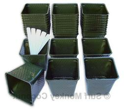 Plastic Flower Nursery Plant Pots LOT of 36 containers! Dura