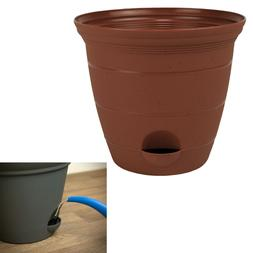 Plastic Self Watering Flower Potted Planter Pot Garden, Clay