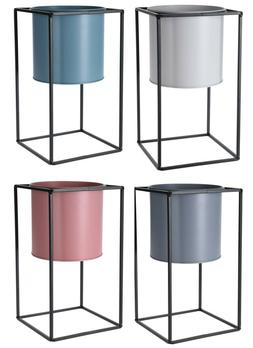 Raised Indoor Plant Pot On a Stand. Metal Flower pot 30cm Ta