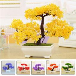 Realistic Artificial Potted Flowers Home Decor Plants In Pot