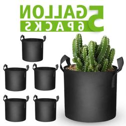 Mars Hydro 6-Pack 5 Gallon Grow Bags Planting Fabric Pot wit