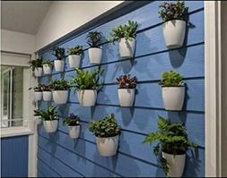 Set of 7 Self-watering Plant Flower Pot Wall Hanging Plastic
