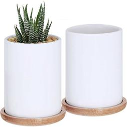 Succulent Pots,3 Inch Ceramic Cylindrical Containers,Flower