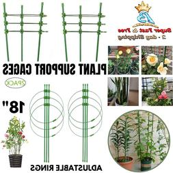 Tomato Climbing Plant Support Cage Stakes Trellis Growing Fl