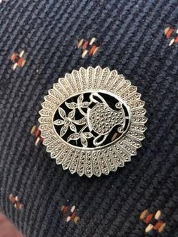 VERY RARE BRAND NEW STERLING SILVER MARCASITE PIN WITH FLOWE